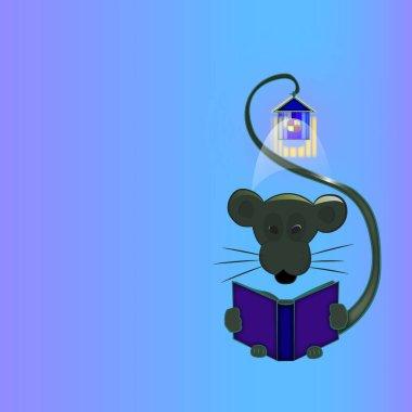 "Картина, постер, плакат, фотообои ""мышь с ночного света"", артикул 401179572"