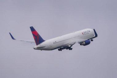 Passenger airplane at Tokyo Narita Airport
