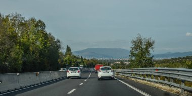 Highway in Rome, Italy