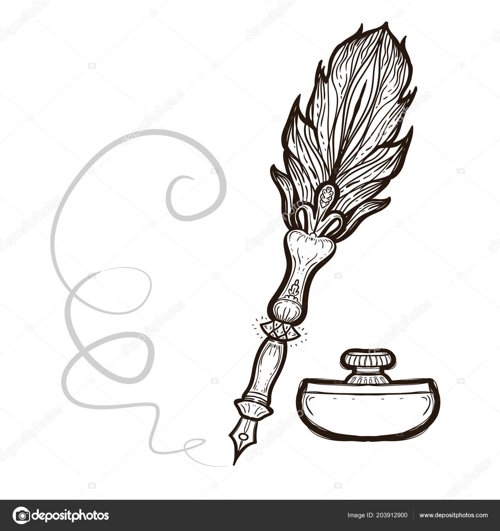 перо раскраска перьевая ручка перо книжка раскраска