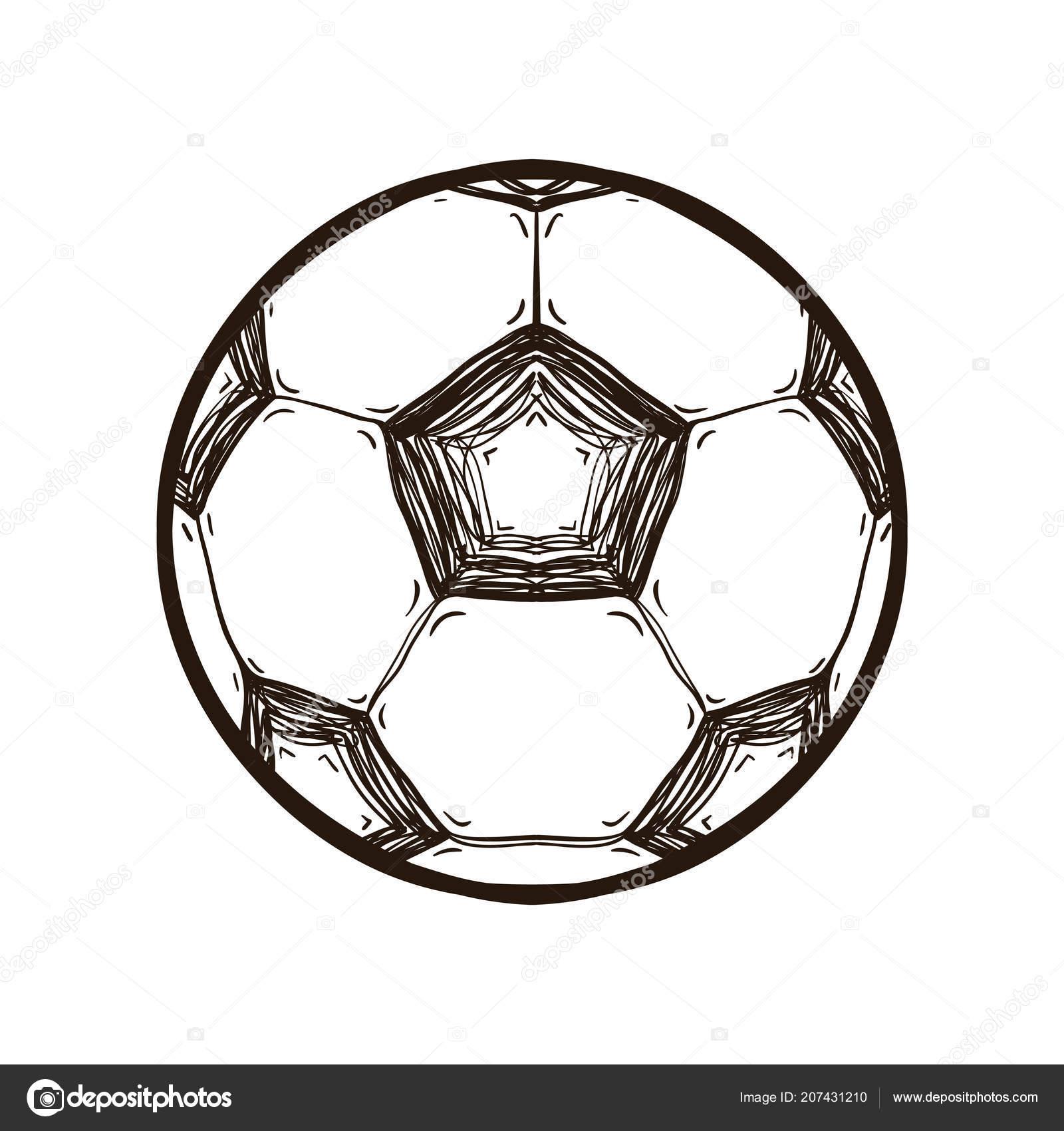 Ballon Pour Coloriage.Ballon De Soccer Isole Livre De Coloriage Image Vectorielle
