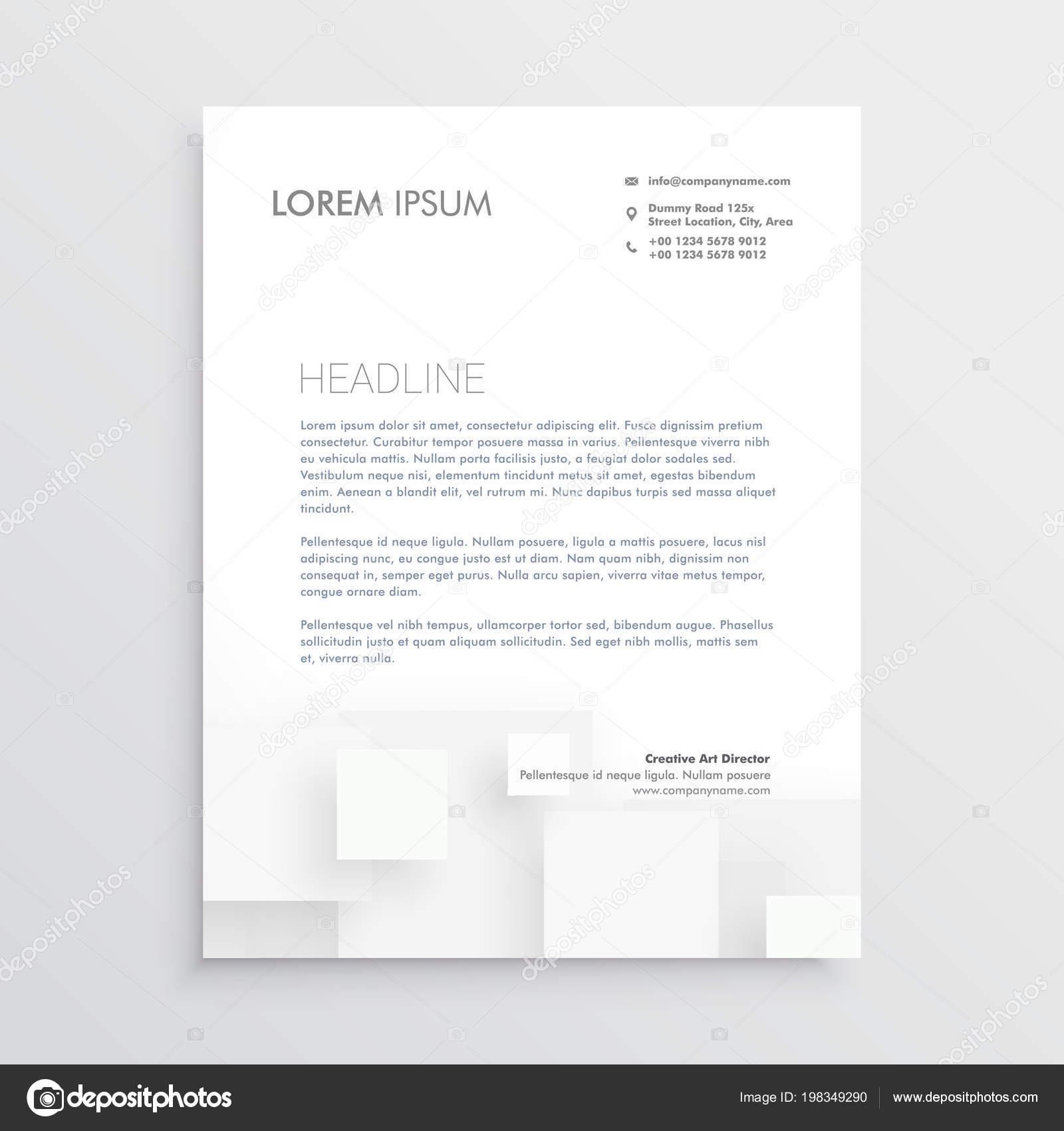 Minimal white letterhead design template stock vector starline minimal white letterhead design template stock vector spiritdancerdesigns Image collections