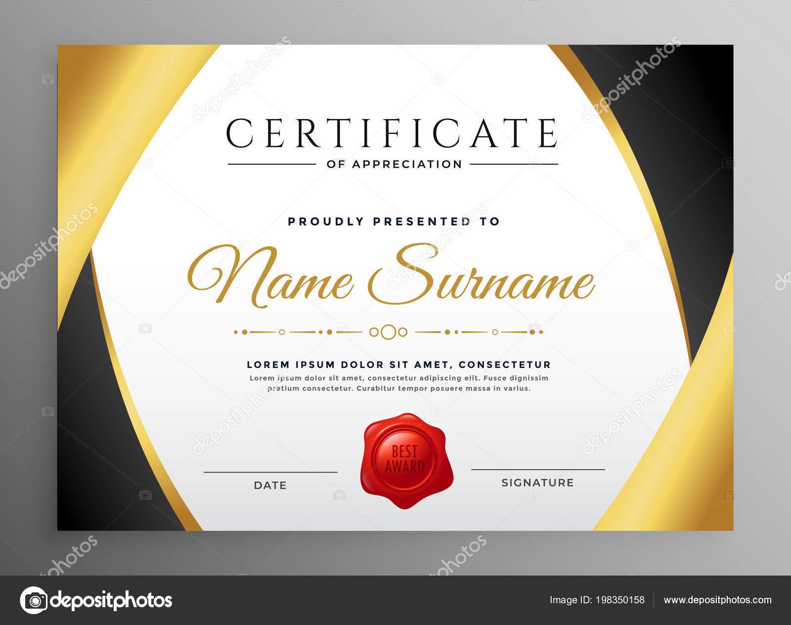Premium Certificate Appreciation Template Stock Vector C Starline