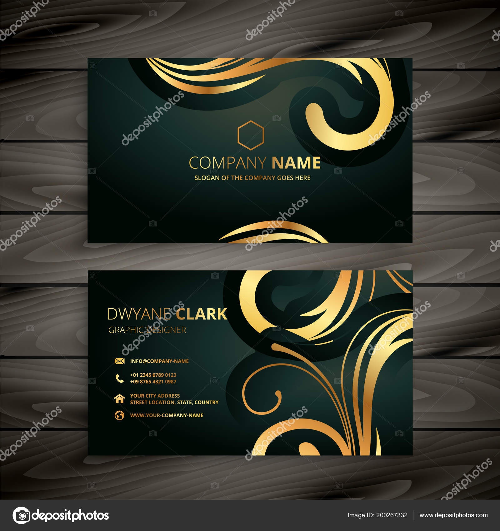 Design Dor Carte De Visite Luxe Premium Vecteur Par StarLine