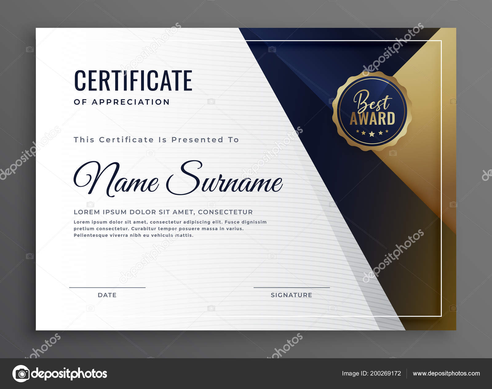 elegant diploma certificate achievement template design stock vector