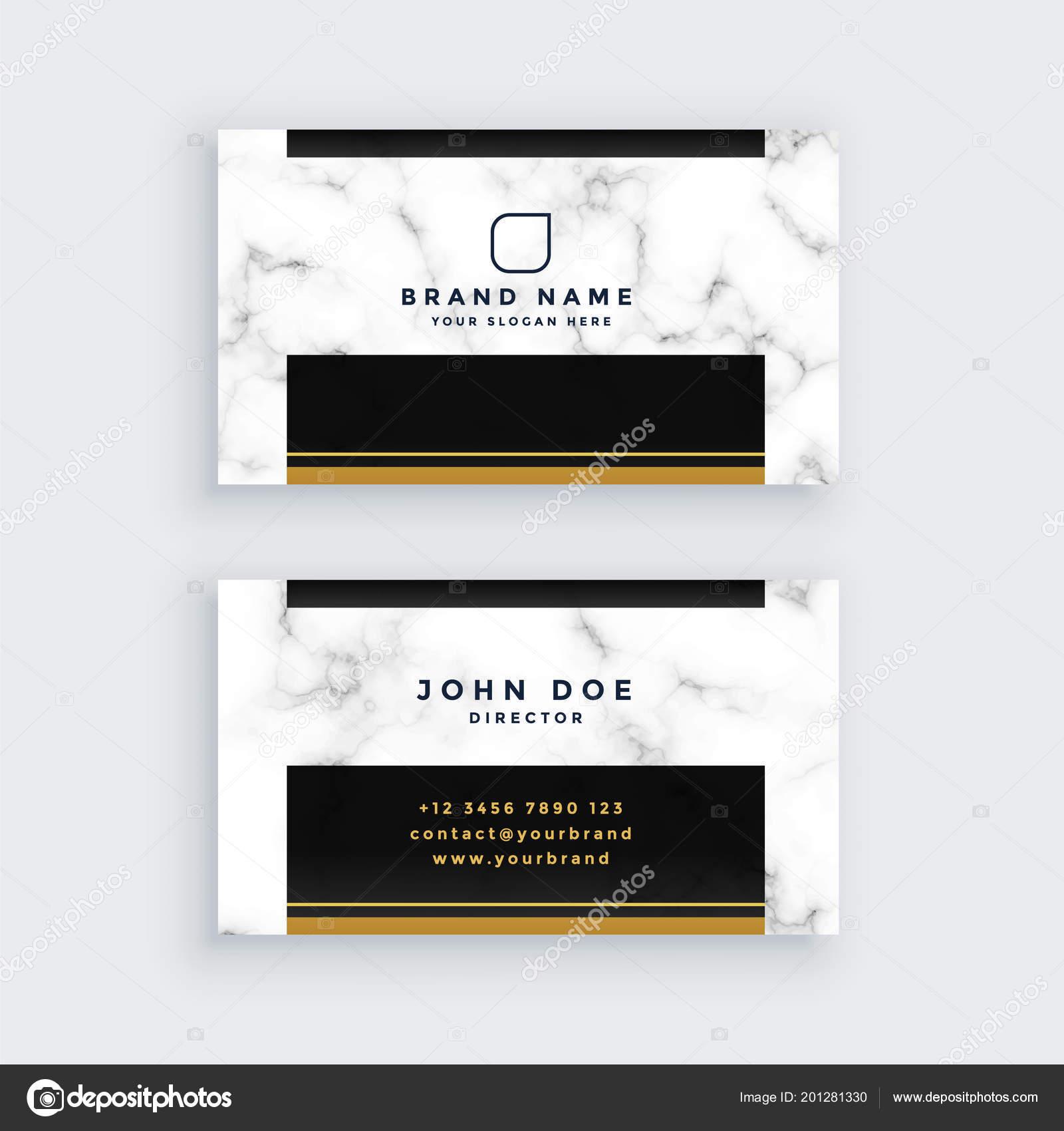 Elegant Black Gold Marble Business Card Design Stock Vector