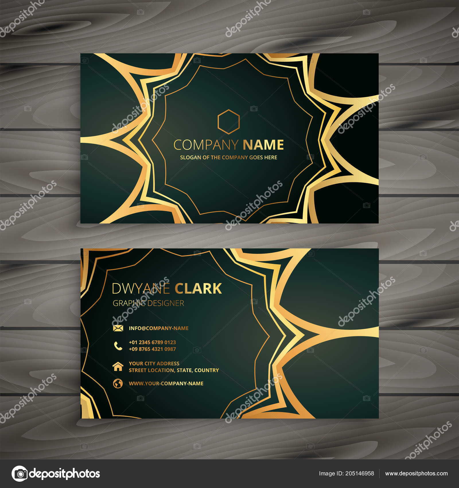 Stylish luxury business card design vetor de stock starline stylish luxury business card design vetor de stock reheart Image collections