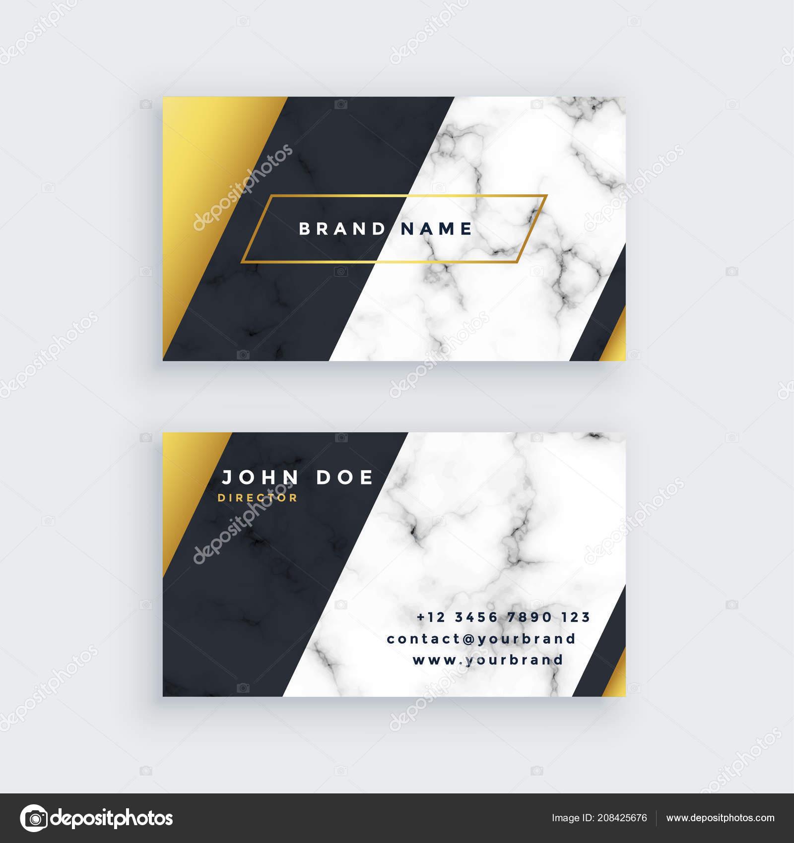 Premium Marmor Visitenkarten Design Stockvektor Starline