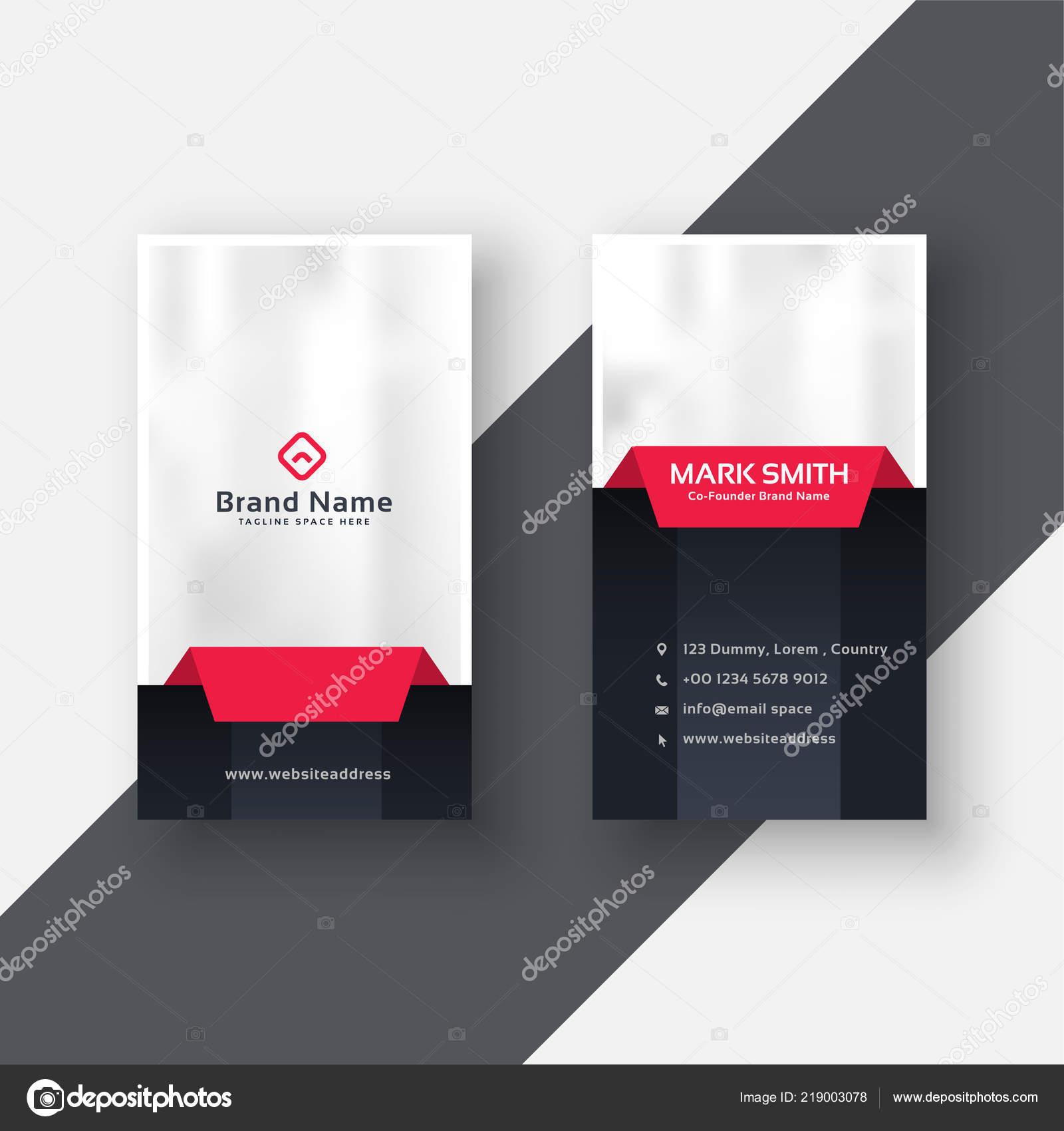 Professionelle Vertikale Visitenkarten Modernes Design Rot