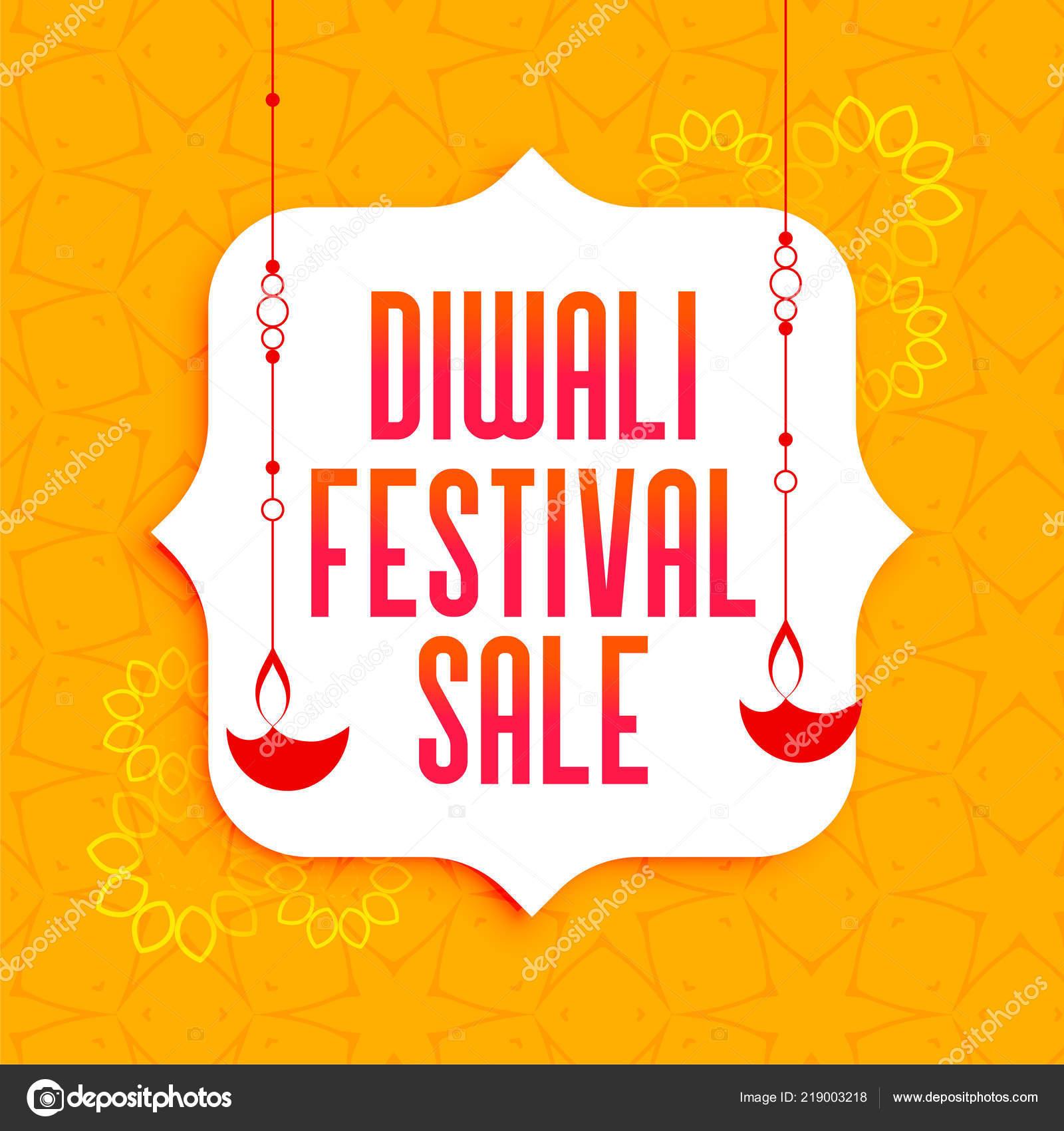 7fef27d9000 Nápis s závěsné svítidlo diya-úžasné diwali festival výprodej– stock  ilustrace