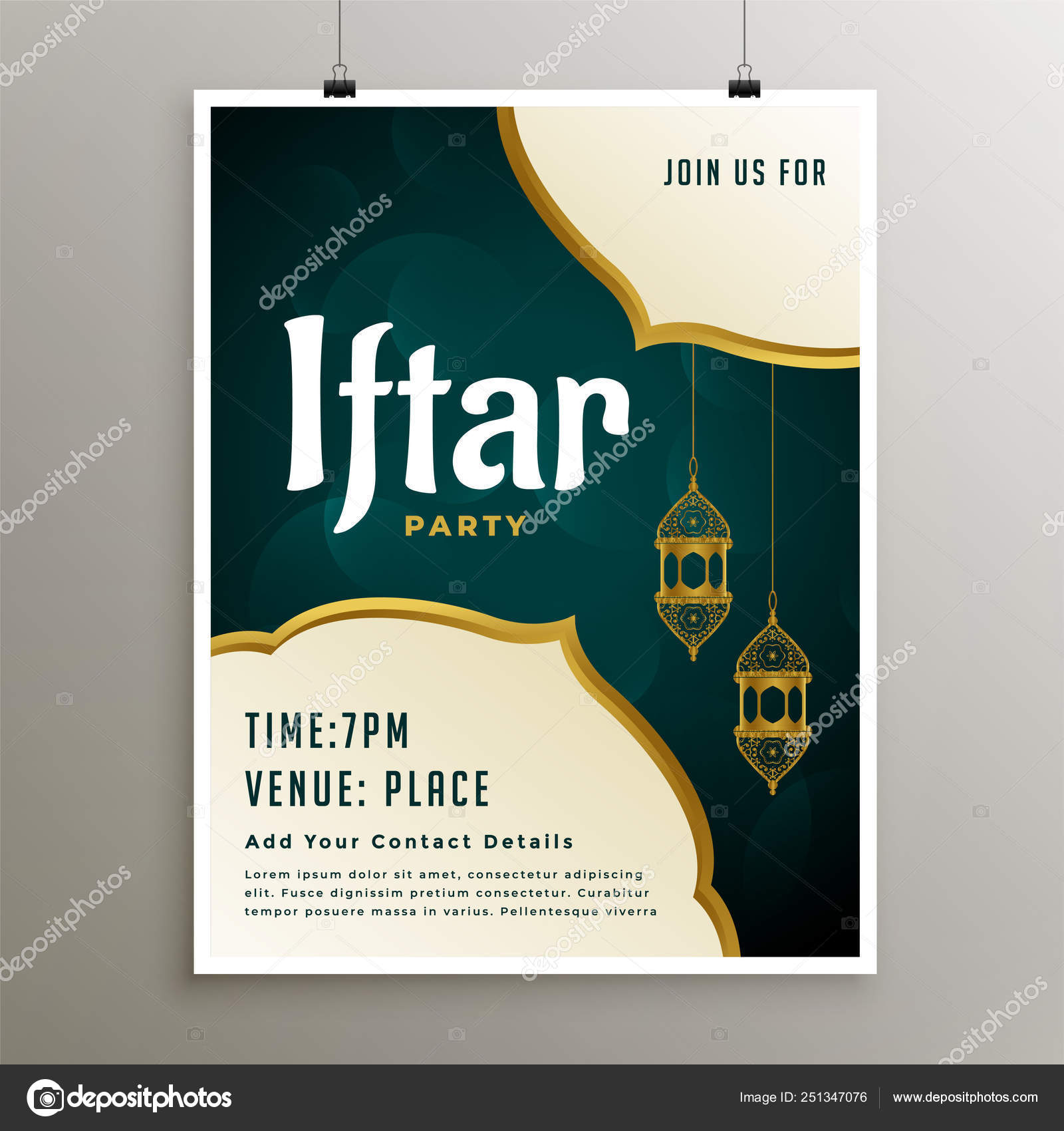 Invitation template of iftar party 4