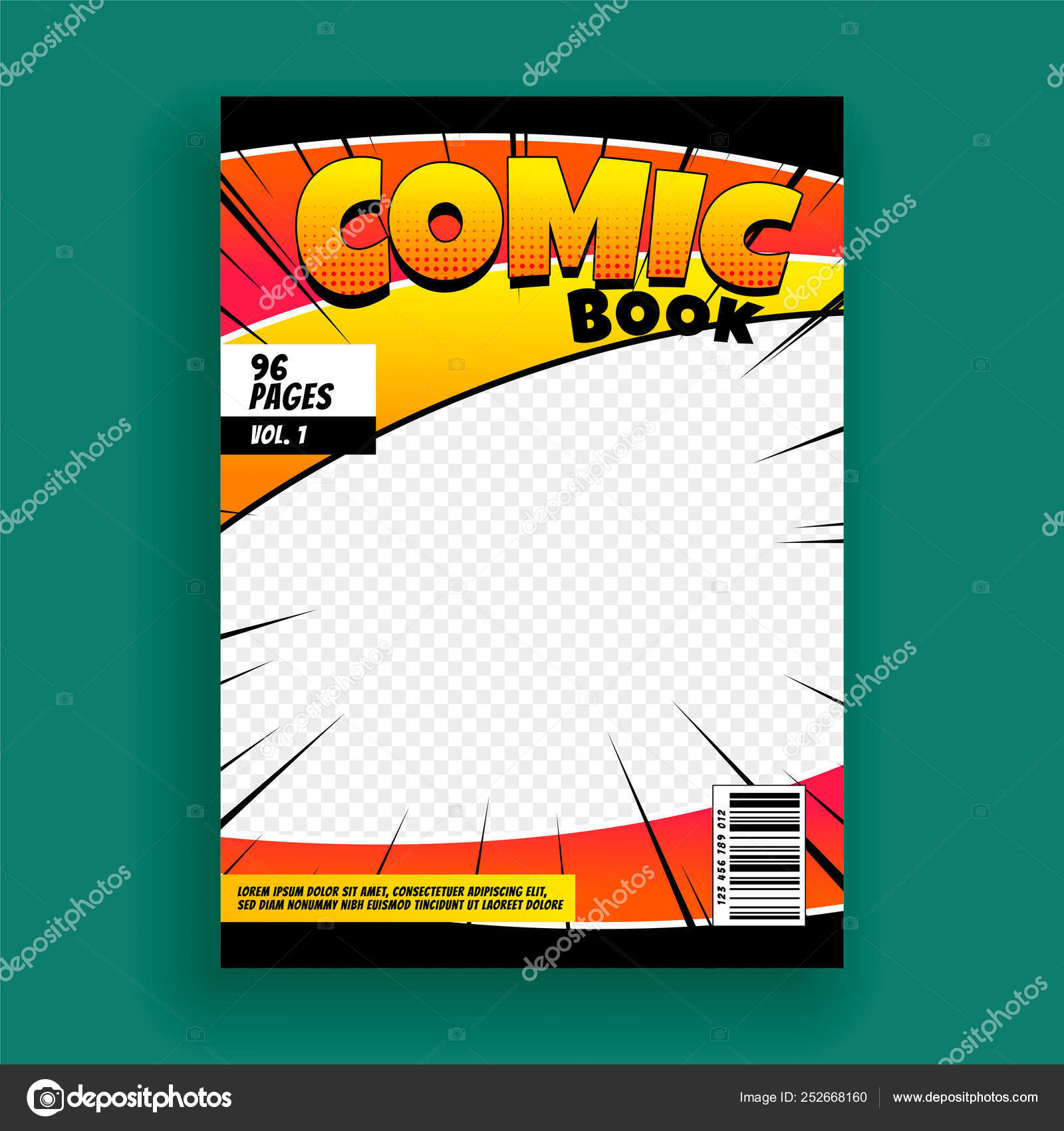 Magazine Cover Page Design Samples Comic Book Magazine