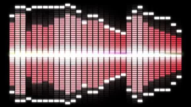 video equalizzatore audio doppie barre in loop