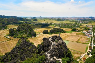 View from Mua Cave mountain in Ninh Binh Tam Coc