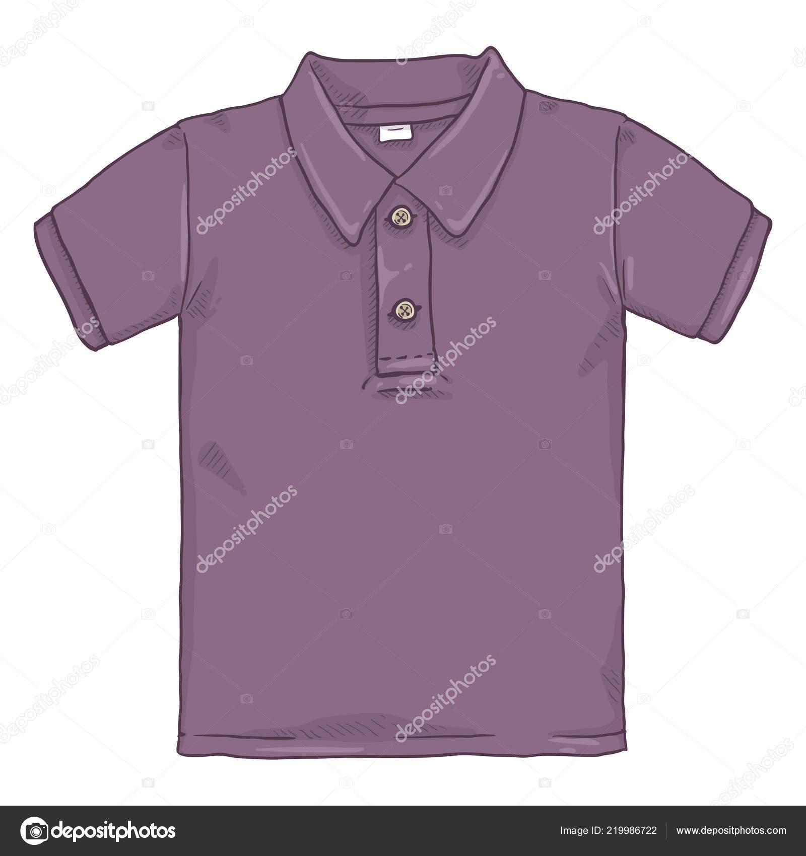 4eaef74d8 Vector Cartoon Illustration Purple Polo Shirt — Stock Vector ...