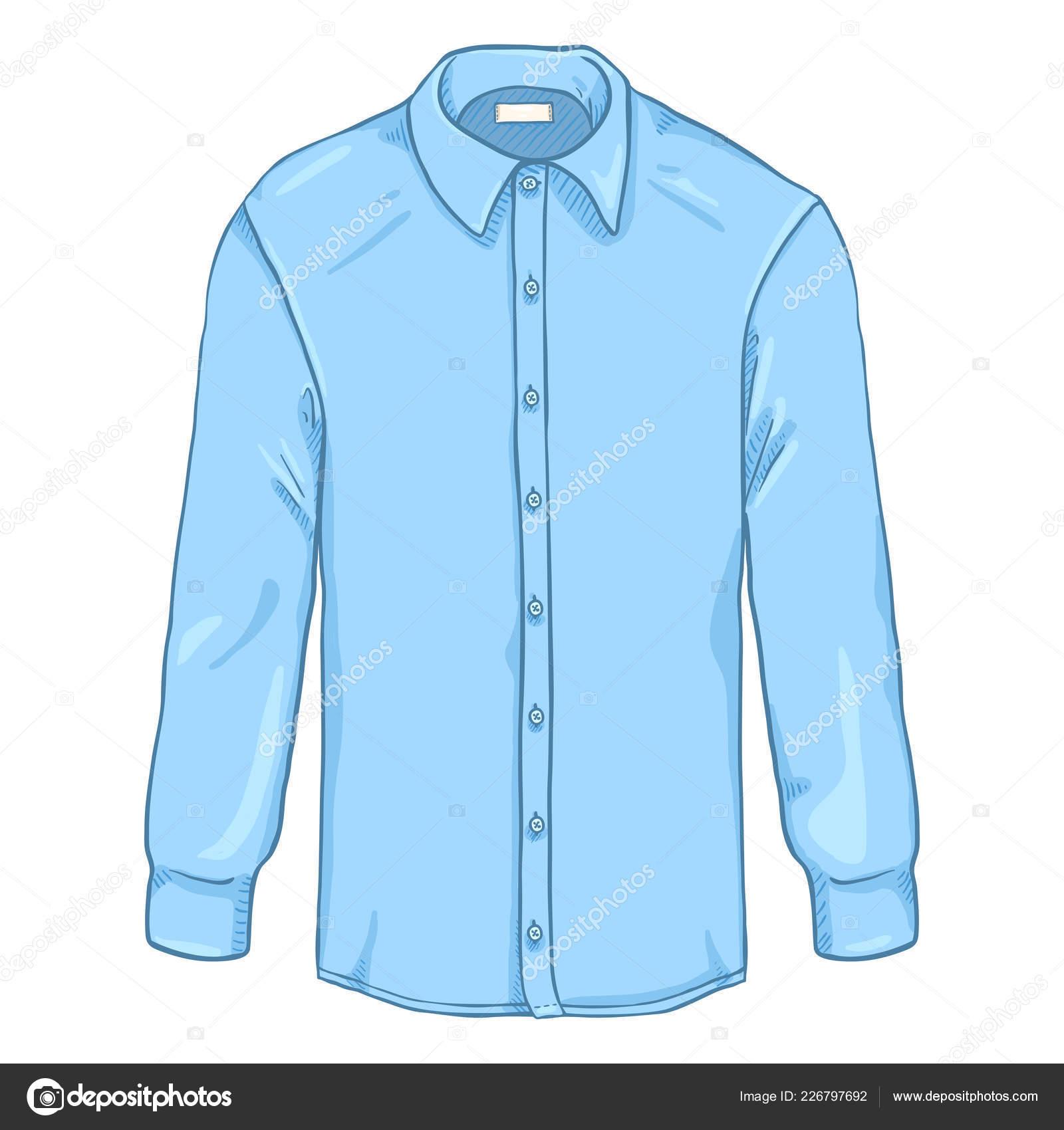 Classique Chemise Manchon Dessin Bleu Long Hommes Animé Lumière Wdoerxcb tQhdrCsx