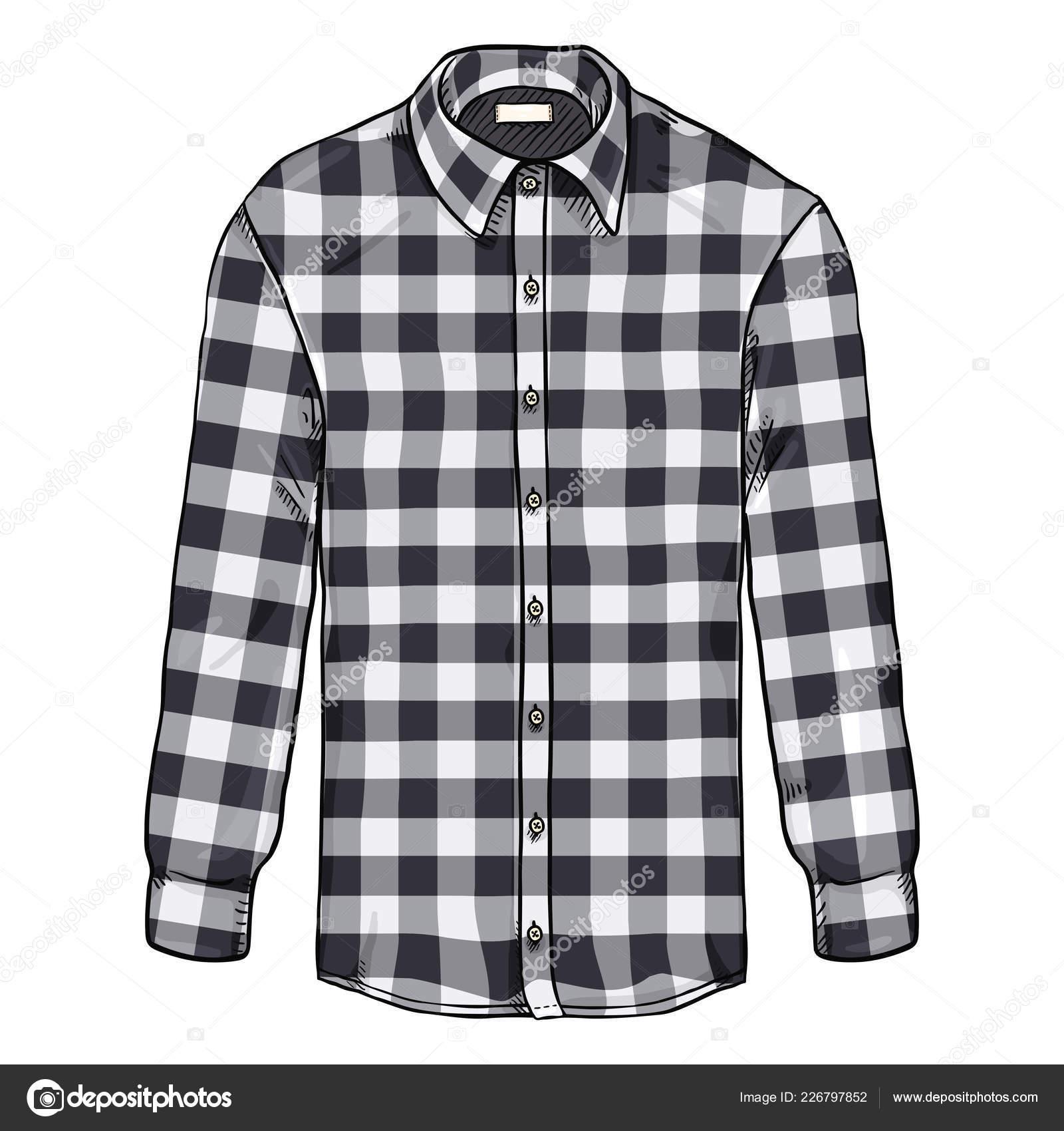 sneakers for cheap 806c7 22c61 Cartone Animato Manica Lunga Nero Camicia Scacchi Bianco ...