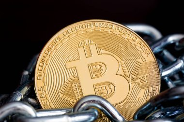 Bitcoin inside iron chain