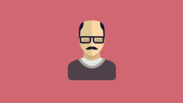 Cartoon avatars icons animation