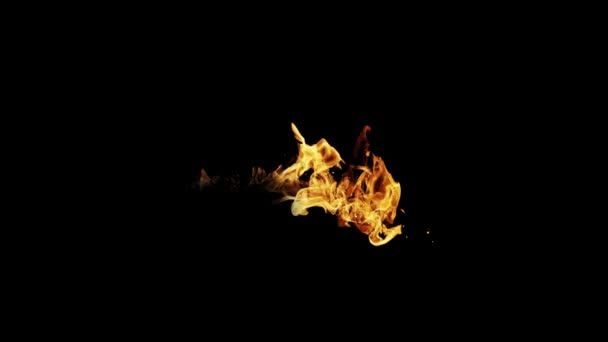 Fire Flames Igniting And Burning - Slow Motion  A line of real flames  ignite on a black background  Real fire  Transparent background  PNG +  Alpha Visit my profile for other VFX