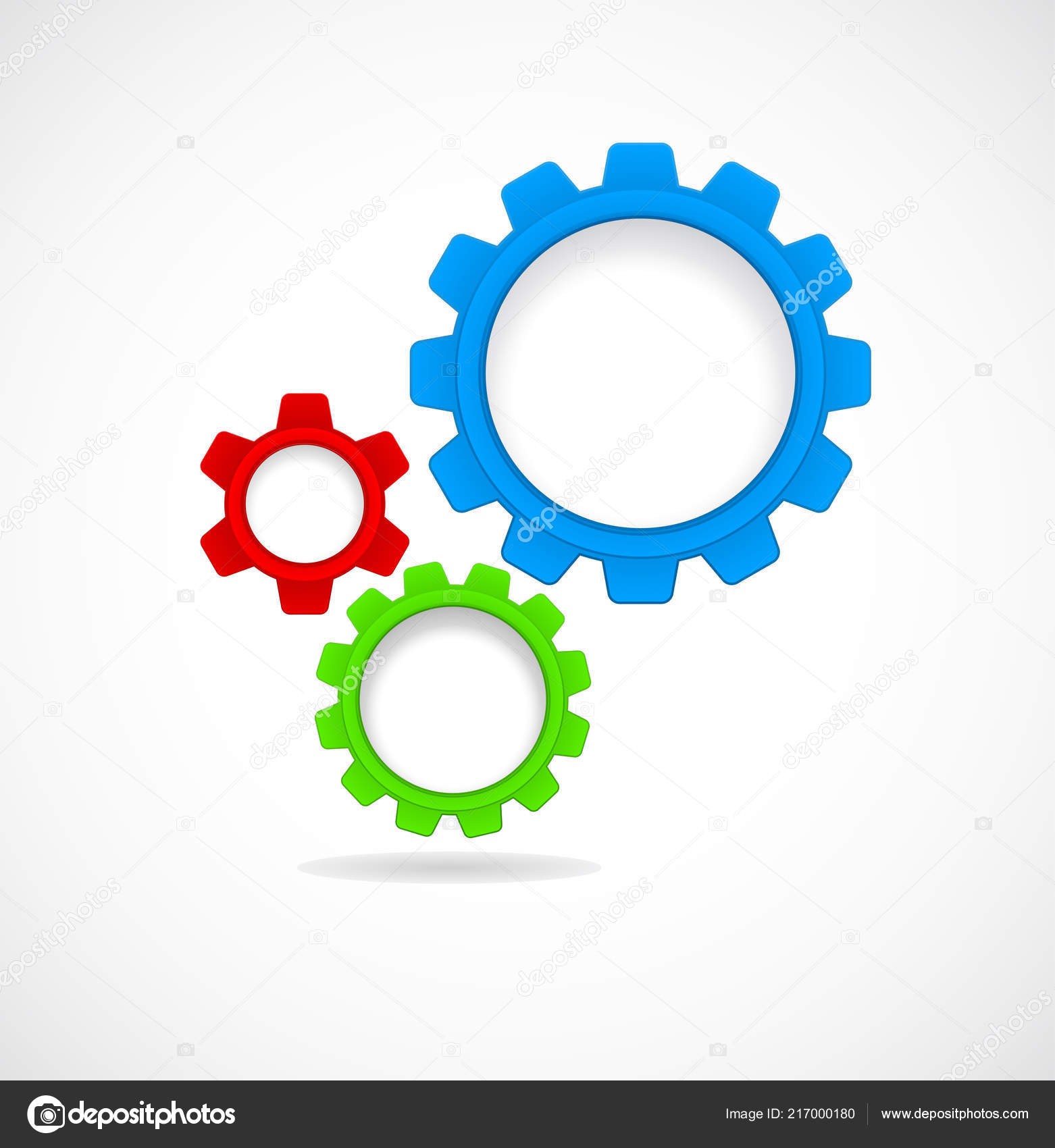 gears cogs teamwork abstract template stock vector igarts 217000180