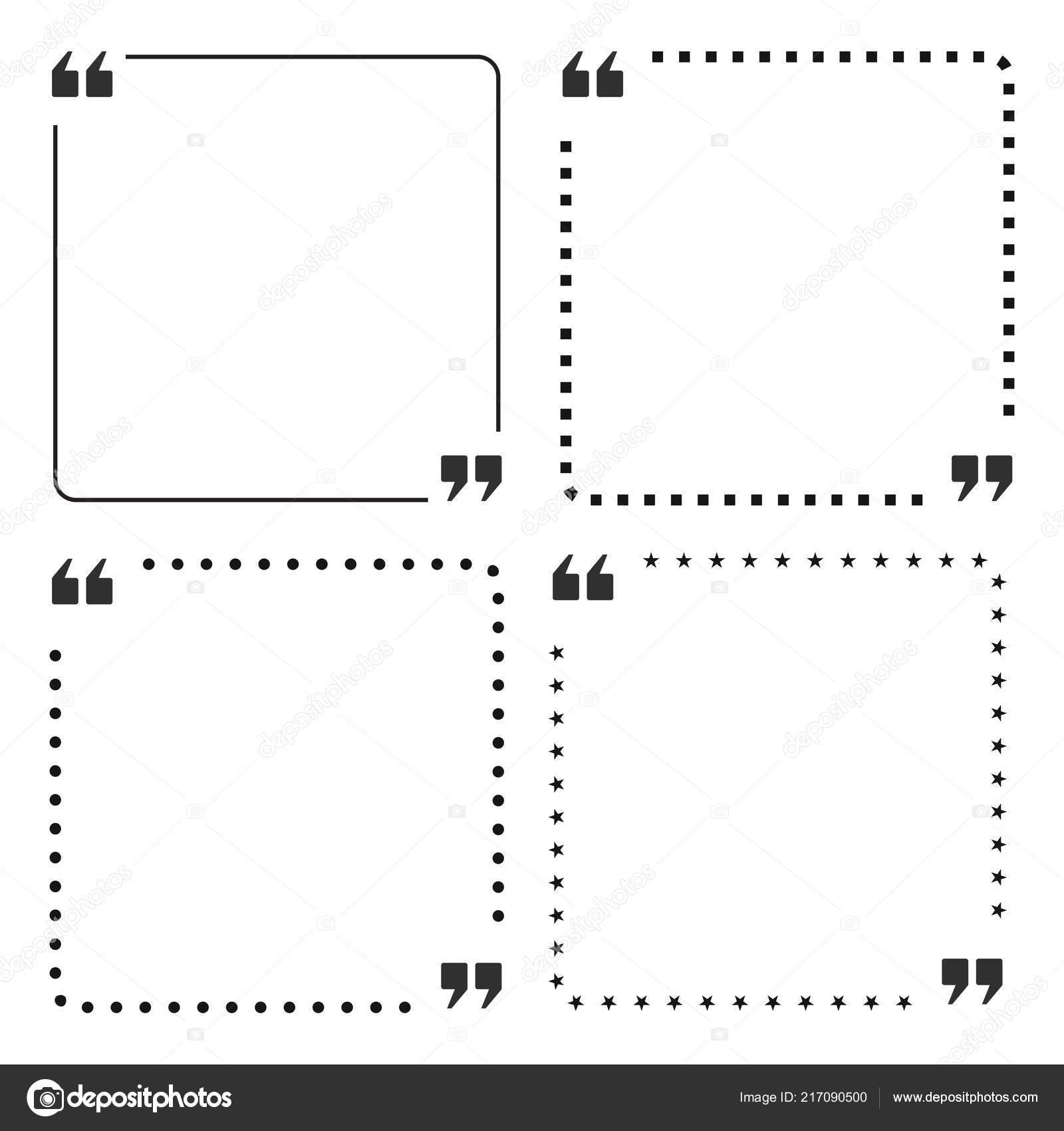 Quote frame design | Quote Box Frame Design — Stock Vector
