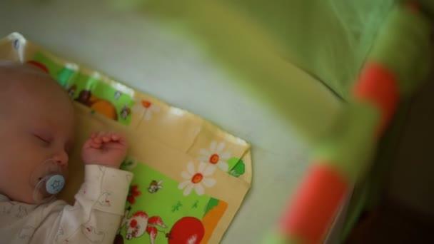 Sweet Baby Sleeping in the Crib