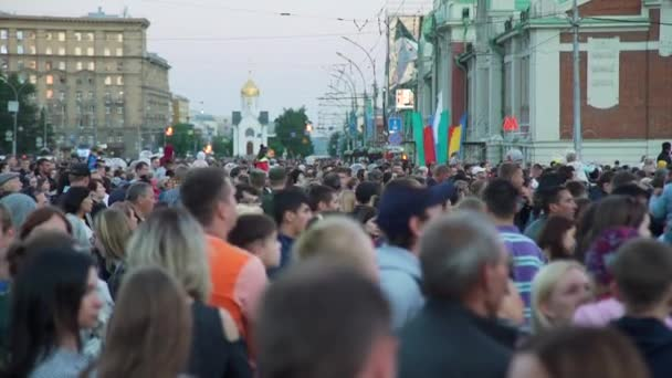 Crowd Celebrating City Founded in Russia
