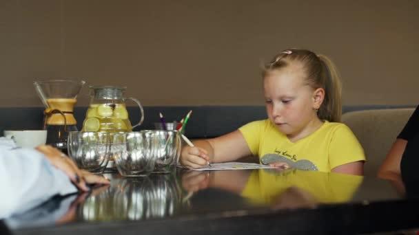 Waitress Bringing Chocolate Shake to Little Girl