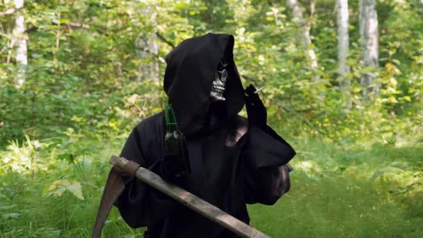 Skeleton Grim Reaper Dohányzás a Városligetben