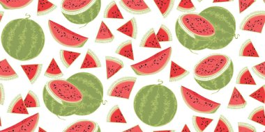 Sweet watermelons. Summer print with watermelons. Summer berries