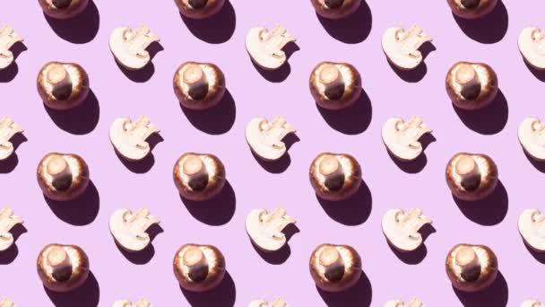 Stop mozgás minta egész és vágott barna pezsgők mozgó lila háttér