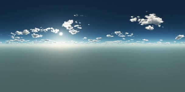 clouds at sunset in virtual reality