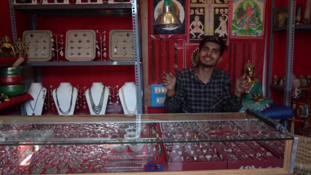Gift shop in India without people.