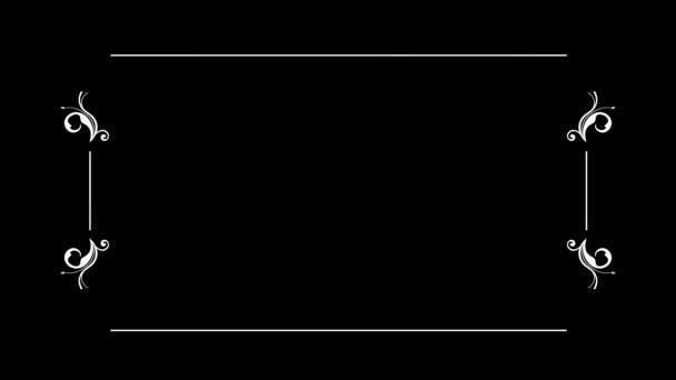 Textový rámeček se starým tichým filmovým stylem Filmový projektor bliká na pozadí. Umístěte text. Dvě možnosti v jednom souboru. Film s škrábance a bez.
