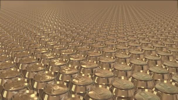 Aluminum Cans, Industry, production line, sequence, three clips. Repeating cycle.