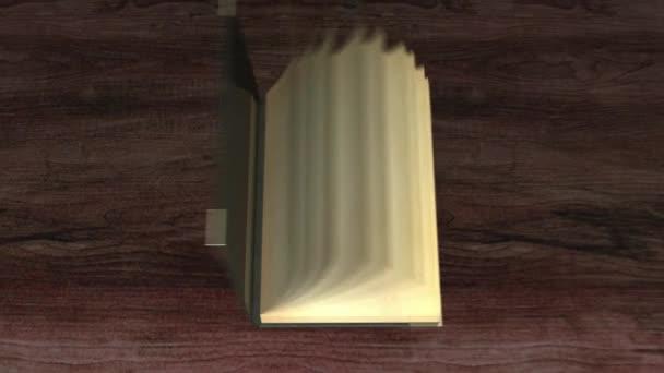 alte Bücher in der Bibliothek Animation Eröffnung Übergang Intro