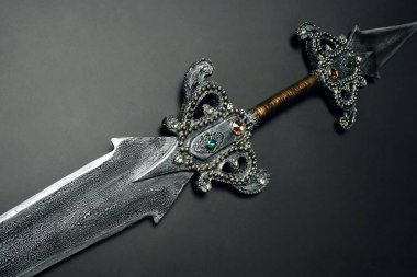 metal sword on  background ,close up