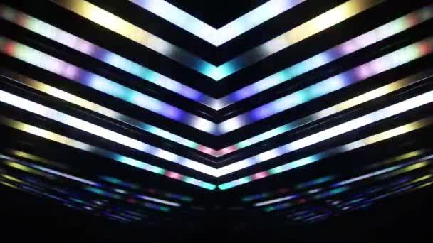 Abstraktní dynamické a zářící světla na tmavém pozadí