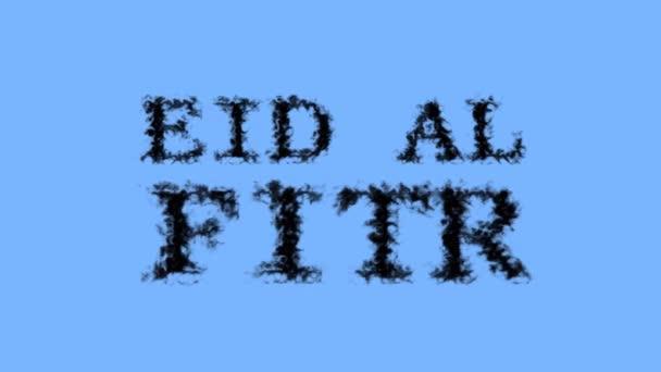Eid Al Fitr Rauch Text Effekt Himmel isoliert Hintergrund. animierte Texteffekte mit hoher visueller Wirkung. Buchstaben- und Text-Effekt.