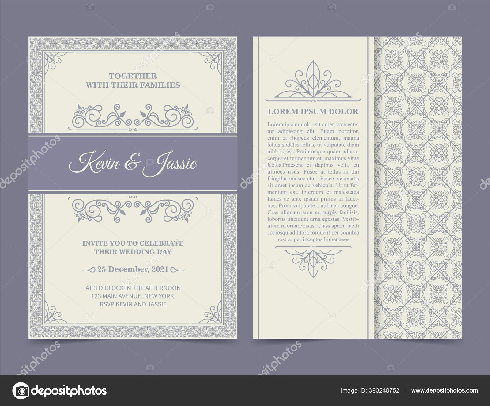 Vintage Style Vector Design Invitation Card White Background Stock Vector C Fotoliastay121 Gmail Com 393240752