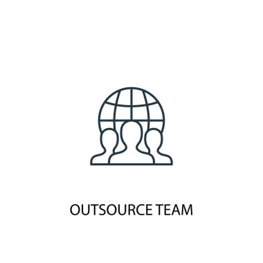 outsource team concept line icon. Simple element illustration. outsource team concept outline symbol design. Can be used for web and mobile