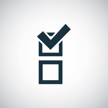 vote check icon for web and UI on white background