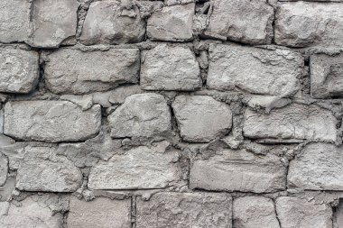 Old walls of aerated concrete blocks