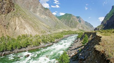 Altai river and mountains