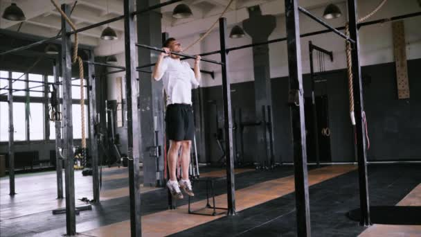Pull-up exercise in the gym or office for beginners and intermediate