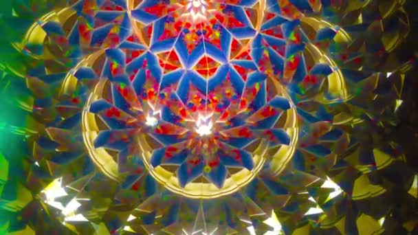 Real kaleidoscope background, no digital effect