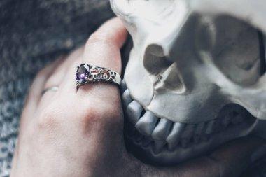 jewelry hand skull mystic