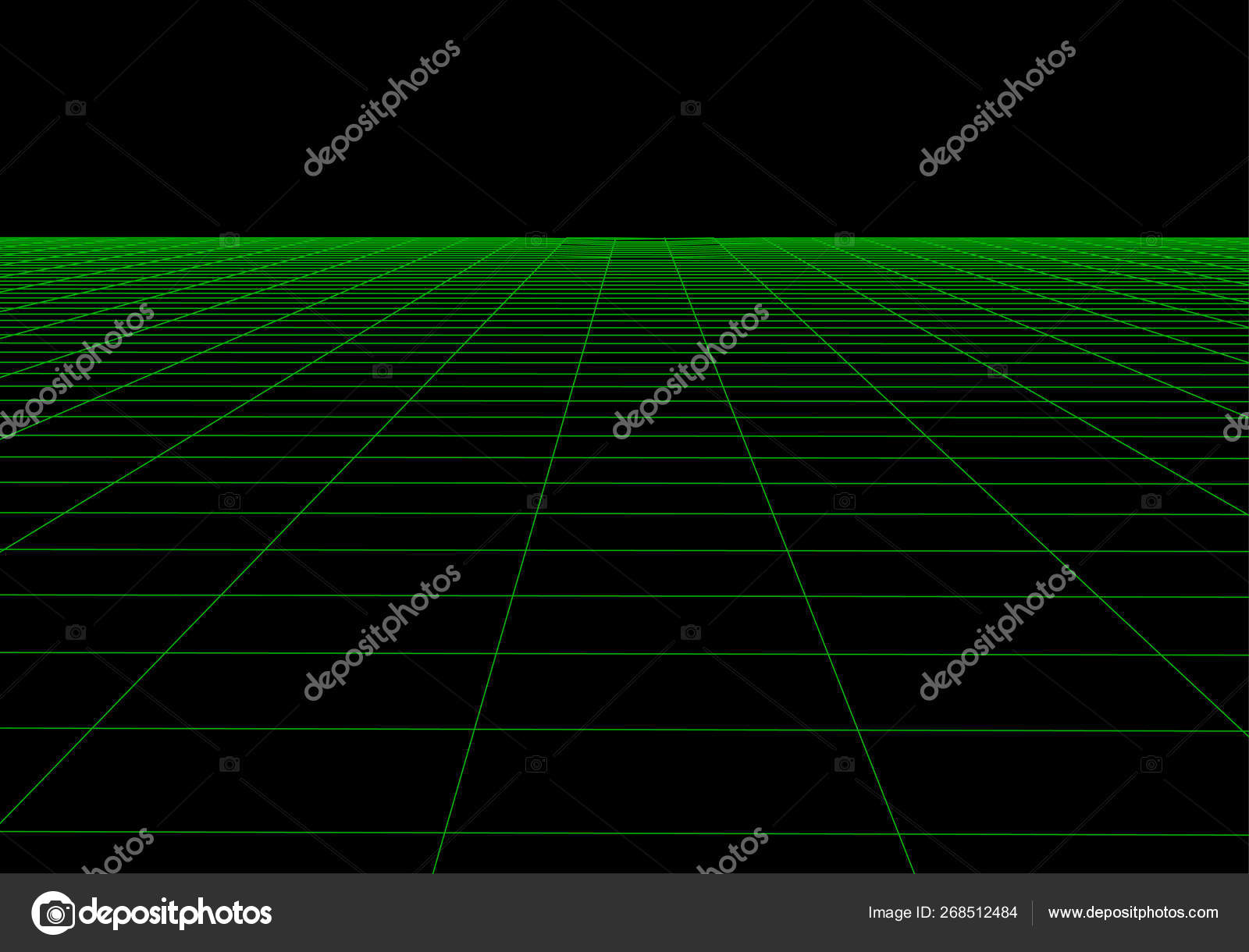 Vector perspective grid  Abstract mesh background  Polygonal