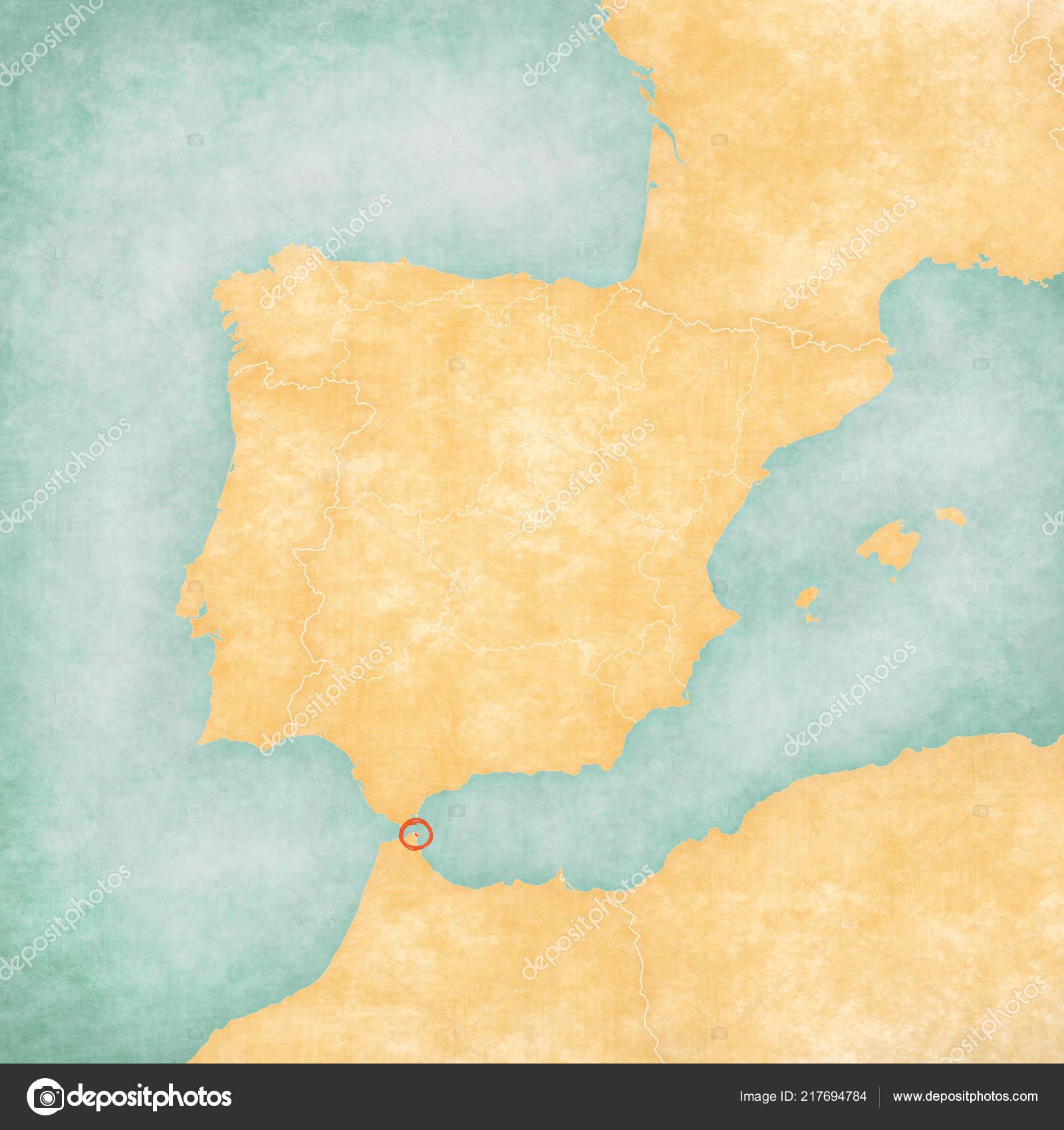 Ceuta Map on